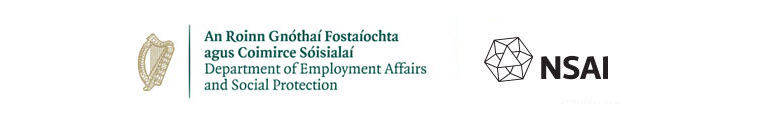 Department of Employment Affairs and Social Protection, ndp, nsai, and european social fund logos